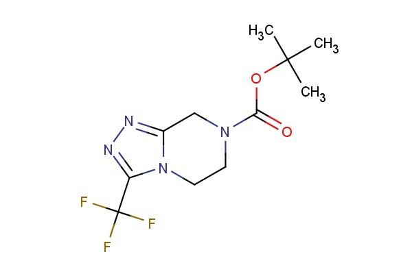 tert-butyl 3-(trifluoromethyl)-5,6-dihydro-[1,2,4]triazolo[4,3-a]pyrazine-7(8H)-carboxylate