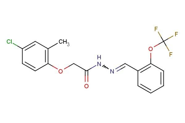 2-(4-chloro-2-methylphenoxy)-N'-(2-(trifluoromethoxy)benzylidene)acetohydrazide