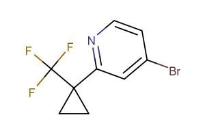 4-bromo-2-(1-(trifluoromethyl)cyclopropyl)pyridine