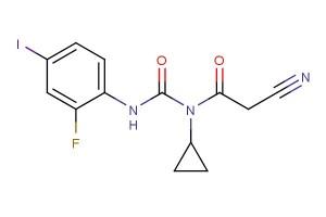 2-cyano-N-cyclopropyl-N-(2-fluoro-4-iodophenylcarbamoyl)acetamide