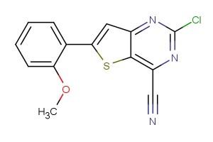 2-chloro-6-(2-methoxyphenyl)thieno[3,2-d]pyrimidine-4-carbonitrile