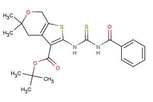 tert-butyl 2-(3-benzoylthioureido)-5,5-dimethyl-5,7-dihydro-4H-thieno[2,3-c]pyran-3-carboxylate