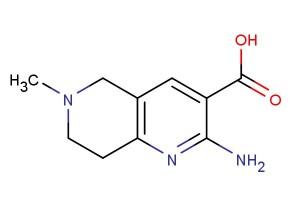 2-amino-6-methyl-5,6,7,8-tetrahydro-1,6-naphthyridine-3-carboxylic acid