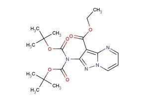 ethyl 2-(bis(tert-butoxycarbonyl)amino)pyrazolo[1,5-a]pyrimidine-3-carboxylate