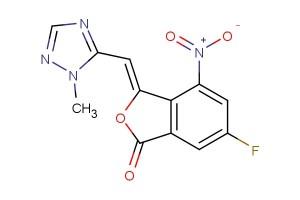 (Z)-6-fluoro-3-((1-methyl-1H-1,2,4-triazol-5-yl)methylene)-4-nitroisobenzofuran-1(3H)-one