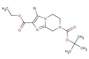 7-tert-butyl 2-ethyl 3-bromo-5,6-dihydroimidazo[1,2-a]pyrazine-2,7(8H)-dicarboxylate
