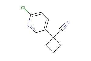 1-(6-chloropyridin-3-yl)cyclobutanecarbonitrile