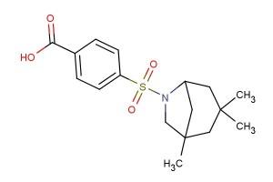 4-((1,3,3-trimethyl-6-azabicyclo[3.2.1]octan-6-yl)sulfonyl)benzoic acid