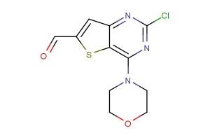 2-chloro-4-morpholinothieno[3,2-d]pyrimidine-6-carbaldehyde