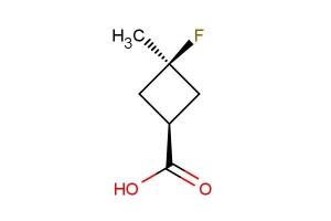 trans-3-Fluoro-3-methylcyclobutanecarboxylic acid