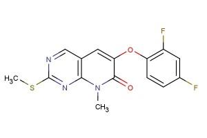 6-(2,4-difluorophenoxy)-8-methyl-2-(methylthio)pyrido[2,3-d]pyrimidin-7(8H)-one