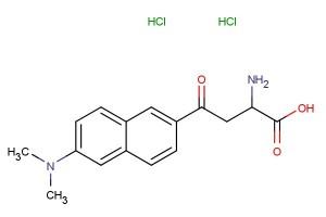 2-amino-4-(6-(dimethylamino)naphthalen-2-yl)-4-oxobutanoic acid dihydrochloride