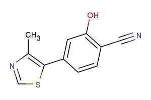 2-hydroxy-4-(4-methylthiazol-5-yl)benzonitrile