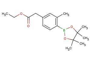 ethyl 2-(3-methyl-4-(4,4,5,5-tetramethyl-1,3,2-dioxaborolan-2-yl)phenyl)acetate