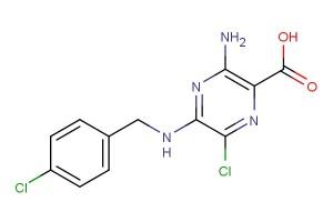 3-amino-6-chloro-5-((4-chlorobenzyl)amino)pyrazine-2-carboxylic acid