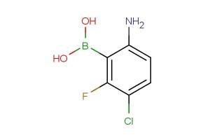 (6-amino-3-chloro-2-fluorophenyl)boronic acid