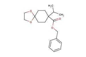 benzyl 8-isopropyl-1,4-dioxaspiro[4.5]decane-8-carboxylate