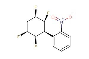 Benzene, 4-nitro-3-[(2S,3R,5S,6R)-2,3,5,6-tetrafluorocyclohexyl]-, rel-