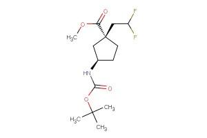 (1R,3R)-methyl 3-((tert-butoxycarbonyl)amino)-1-(2,2-difluoroethyl)cyclopentanecarboxylate