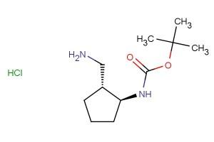 tert-butyl ((1S,2R)-2-(aminomethyl)cyclopentyl)carbamate hydrochloride