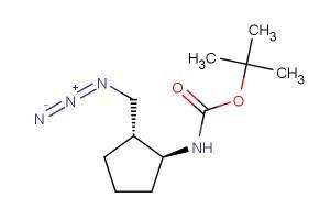 tert-butyl ((1S,2R)-2-(azidomethyl)cyclopentyl)carbamate