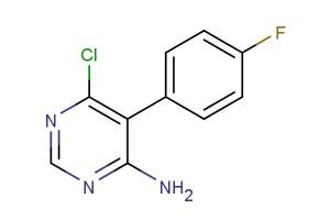 6-chloro-5-(4-fluorophenyl)-4-pyrimidinamine