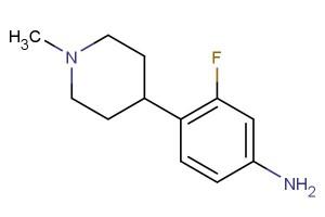 3-fluoro-4-(1-methylpiperidin-4-yl)aniline