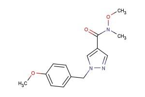 N-methoxy-1-(4-methoxybenzyl)-N-methyl-1H-pyrazole-4-carboxamide