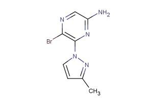 5-bromo-6-(3-methyl-1H-pyrazol-1-yl)pyrazin-2-amine