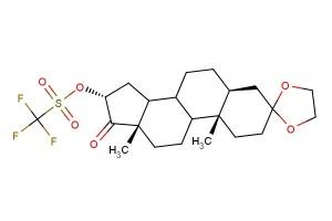 (5S,10S,13S,16R)-10,13-dimethyl-17-oxohexadecahydrospiro[cyclopenta[a]phenanthrene-3,2'-[1,3]dioxolan]-16-yl trifluoromethanesulfonate