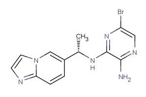 (S)-6-bromo-N2-(1-(imidazo[1,2-a]pyridin-6-yl)ethyl)pyrazine-2,3-diamine