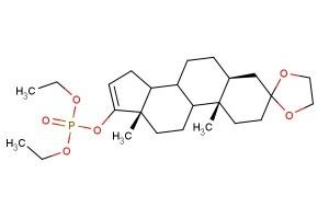 (5S,10S,13S)-10,13-dimethyl-1,2,4,5,6,7,8,9,10,11,12,13,14,15-tetradecahydrospiro[cyclopenta[a]phenanthrene-3,2'-[1,3]dioxolan]-17-yl diethyl phosphate