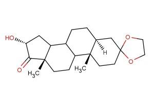 (5S,10S,13S,16R)-16-hydroxy-10,13-dimethyltetradecahydrospiro[cyclopenta[a]phenanthrene-3,2'-[1,3]dioxolan]-17(2H)-one