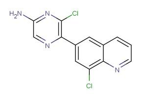 6-chloro-5-(8-chloroquinolin-6-yl)pyrazin-2-amine