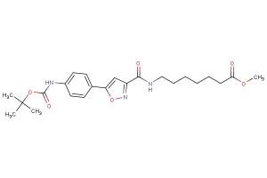 methyl 7-(5-(4-((tert-butoxycarbonyl)amino)phenyl)isoxazole-3-carboxamido)heptanoate