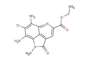 ethyl 6,8-diamino-7-chloro-1-methyl-2-oxo-1,2-dihydropyrrolo[4,3,2-de]quinoline-4-carboxylate