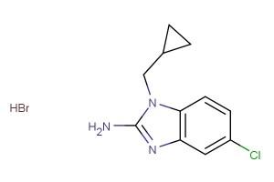5-chloro-1-(cyclopropylmethyl)-1H-benzo[d]imidazol-2-amine hydrobromide