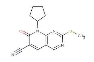 8-cyclopentyl-2-(methylthio)-7-oxo-7,8-dihydropyrido[2,3-d]pyrimidine-6-carbonitrile