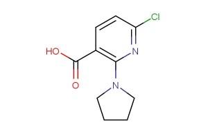 6-chloro-2-(pyrrolidin-1-yl)nicotinic acid