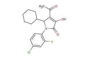 4-acetyl-1-(4-chloro-2-fluorophenyl)-5-cyclohexyl-3-hydroxy-1H-pyrrol-2(5H)-one