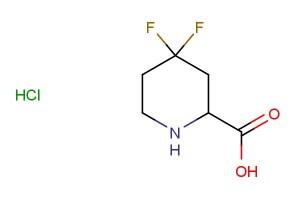 4,4-difluoropiperidine-2-carboxylic acid hydrochloride