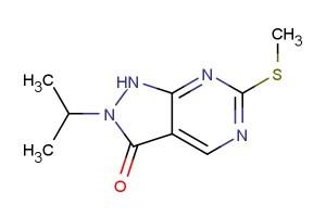 2-isopropyl-6-(methylthio)-1,2-dihydro-3H-pyrazolo[3,4-d]pyrimidin-3-one