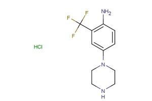 4-(piperazin-1-yl)-2-(trifluoromethyl)aniline hydrochloride