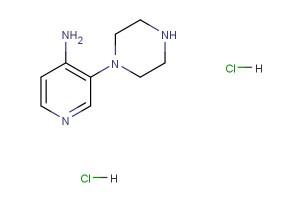 3-(piperazin-1-yl)pyridin-4-amine dihydrochloride