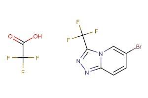 6-bromo-3-(trifluoromethyl)-[1,2,4]triazolo[4,3-a]pyridine 2,2,2-trifluoroacetate