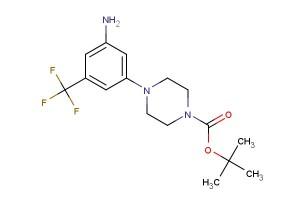 tert-butyl 4-(3-amino-5-(trifluoromethyl)phenyl)piperazine-1-carboxylate