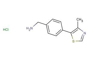 (4-(4-methylthiazol-5-yl)phenyl)methanamine hydrochloride
