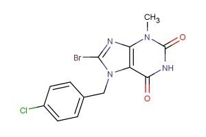 8-bromo-7-(4-chlorobenzyl)-3-methyl-3,7-dihydro-1H-purine-2,6-dione