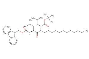 tert-butyl N-((((9H-fluoren-9-yl)methoxy)carbonyl)-L-leucyl)-N-dodecyl-L-leucinate