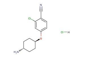 4-(((1r,4r)-4-aminocyclohexyl)oxy)-2-chlorobenzonitrile hydrochloride